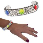 Silver Jewel Bracelets - 12 Pack