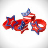 Patriotic Rubber Rings - 12 Pack