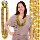 "Gold Bead Beer Mug Necklaces-33""-12 Pack"
