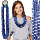 "Blue Bead Beer Mug Necklaces-33""-12 Pack"