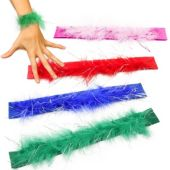 "9"" Feather Slap Bracelets - 12 Pack"