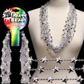 "Silver Star Bead Necklaces-33""-12 Pack"
