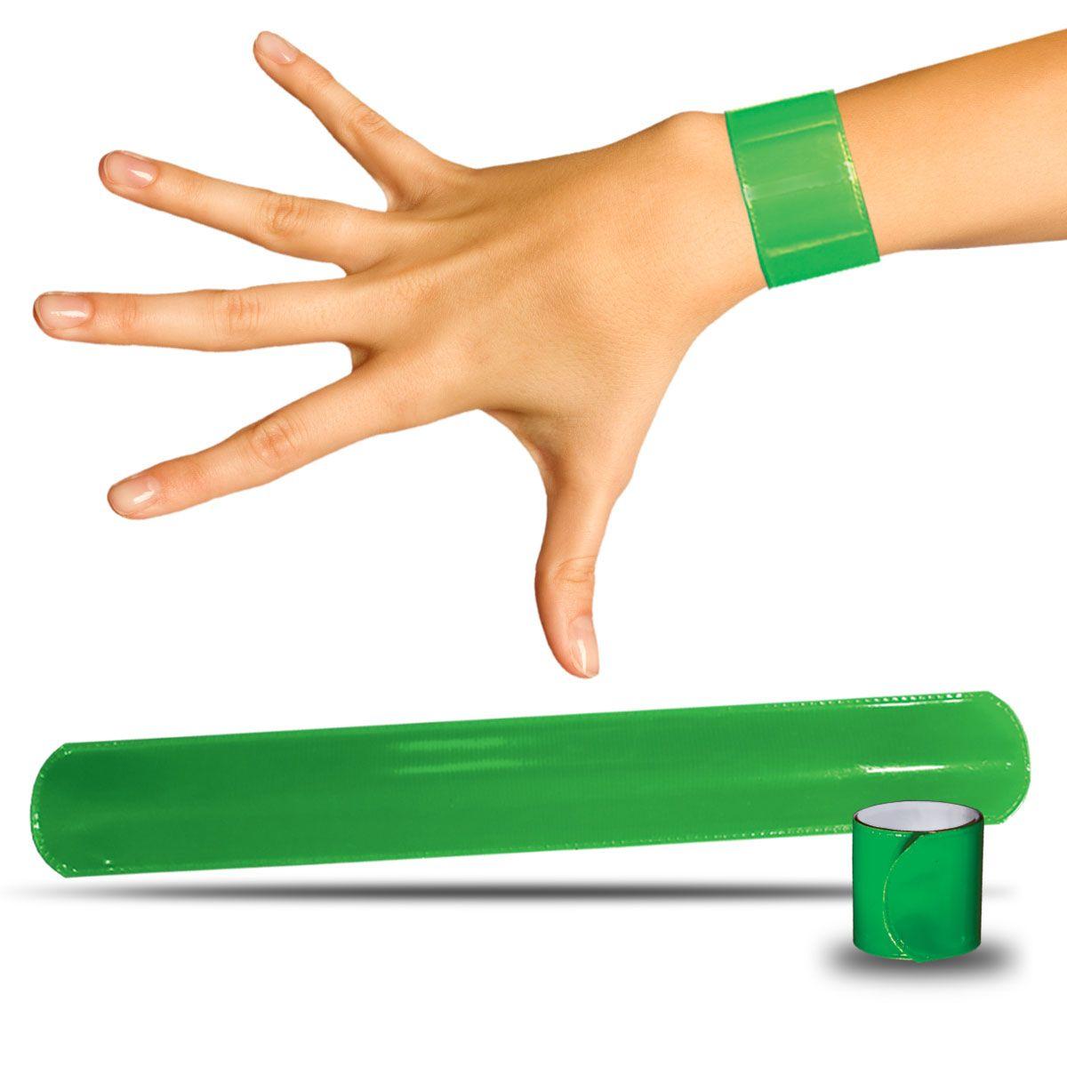Green Slap Bracelets - 12 Pack JLR190DZ
