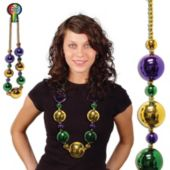 "Mardi Gras Jumbo Bead 44"" Necklace"
