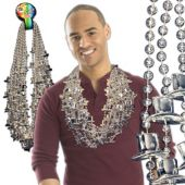 """Silver Bead Top Hat Necklaces-36""""-12 Pack"""