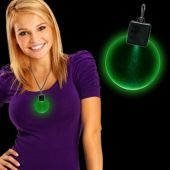 Green LED Round Medallion