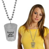 New Year's Bead Shot Glass Necklace-33""