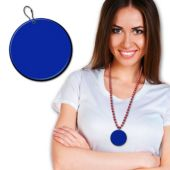 Blue Plastic Medallion – 2.5""
