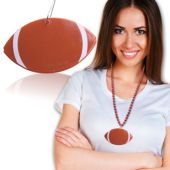 Football Medallion With Metal Clip