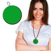 Green Plastic Medallion – 2.5 Inches