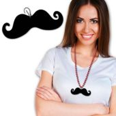Black Mustache Medallion