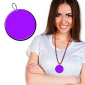 Purple Plastic Medallion – 2.5 Inches