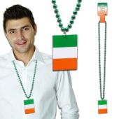 Irish Flag Bead Necklace