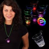 Multi-Color Rainbow LED Clear Shot Glass Medallion - 2 Ounce
