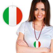 """Italian Flag Plastic Medallion - 2 1/2"""""""