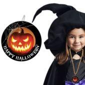 """Halloween Pumpkin Necklaces - 33"""" - 12 Pack"""