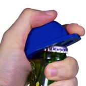 Blue Construction Hat Bottle Opener Key Chain