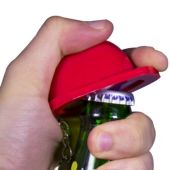 Red Construction Hat Bottle Opener Key Chain
