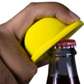 Yellow Construction Hat Bottle Opener Key Chain