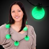 Green LED and Light-Up Ball Necklace