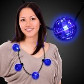 Blue LED and Light-Up Ball Necklace
