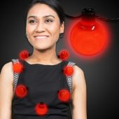 Red LED and Light-Up Ball Necklace