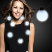 White LED and Light-Up Ball Necklace