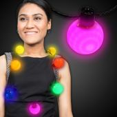 Rainbow LED and Light-Up Ball Necklace