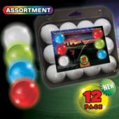 Assorted Color Novelty LED Golf Ball – 12 Pack