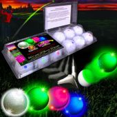 Assorted Color Novelty LED and Light-Up Golf Ball – 12 Pack