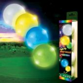 Assorted Color Novelty LED and Light-Up Golf Balls – 4 Pack
