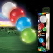 Assorted Color Novelty LED Golf Balls – 4 Pack