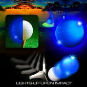 Blue Re-Trigger Novelty LED Golf Balls – 6 Per Unit