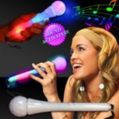 "Sound Activated LED 9"" Toy Microphone"