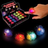 LED Porcupine Jelly Rings-24 Pack