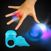 Blue LED and Light-Up Jelly Rings-Unit of 24