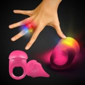 Pink LED and Light-Up Jelly Rings-Unit of 24