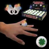 LED Shamrock Jelly Rings-24 Pack