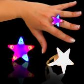 Red And Blue LED and Light-Up Star Rings-12 Pack