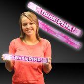 LED Pink Ribbon Foam Lumiton