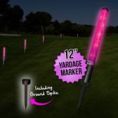 "12"" Pink L.E.D. New Yardage Markers With Spikes"