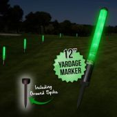 "12"" Green L.E.D. New Yardage Markers With Spikes"