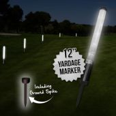 "12"" White L.E.D. New Yardage Markers With Spikes"