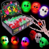 LED Skull Jelly Rings-Unit of 24