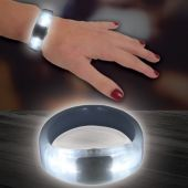 White LED and Light-Up Bangle Bracelet