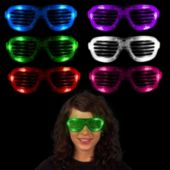 Assorted Color LED Slotted Glasses