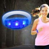 Sound Activated Blue LED and Light-Up Stretchy Bangle Bracelet