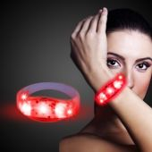 Red LED Stretchy Bangle Bracelet