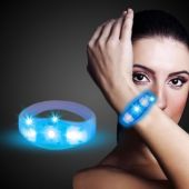 Blue LED and Light-Up Stretchy Bangle Bracelet