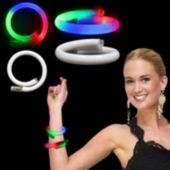 White Tube Multi Color LED Bracelet - 11 Inch